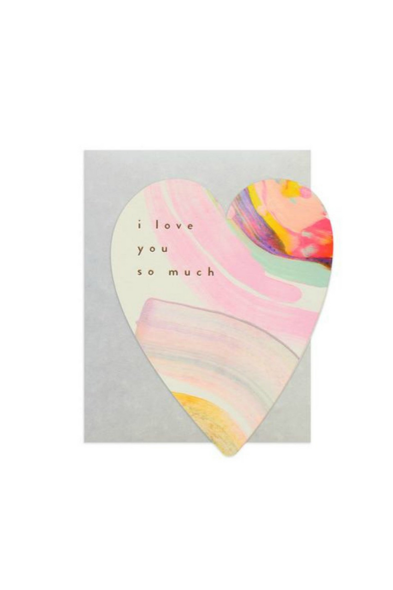 Moglea Rainbow Heart Greeting Card