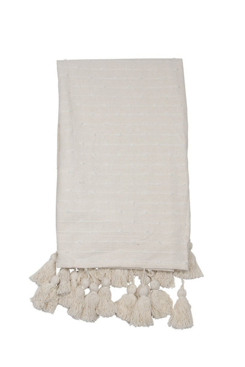 Foreside Home & Garden Hand Woven Kira Throw in White
