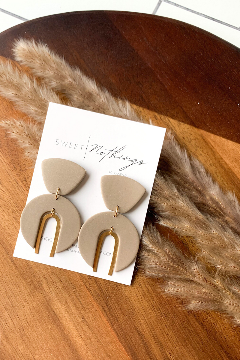Sweet Nothings by Taneisha Goddess Earrings in Champagne