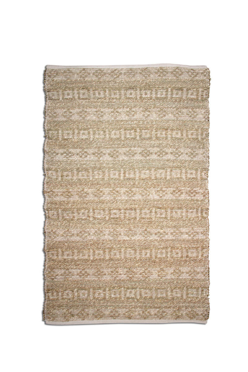 TAG White Geo Seagrass Rug