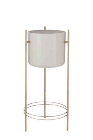 BIDK Home Tall Sverre Metal Pot with Gold Stand
