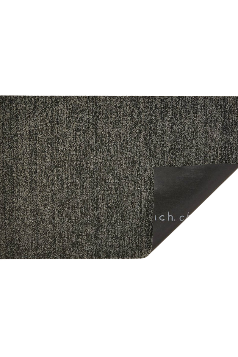 Chilewich Heathered Shag in Black/ Tan