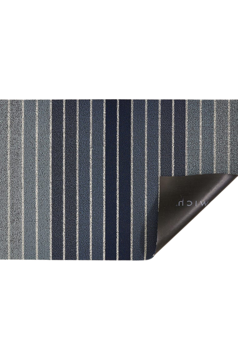 Chilewich Block Stripe Shag in Denim