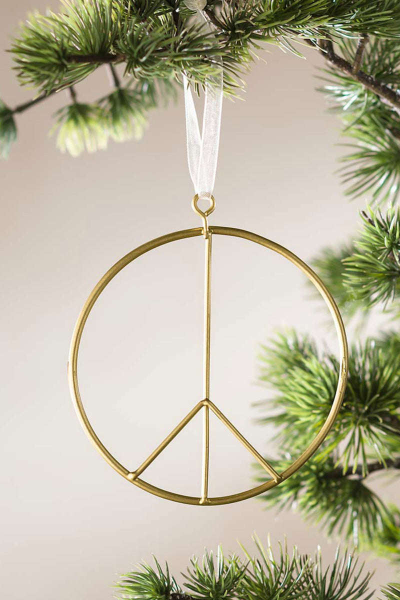 Accent Decor Peace Sign Ornament