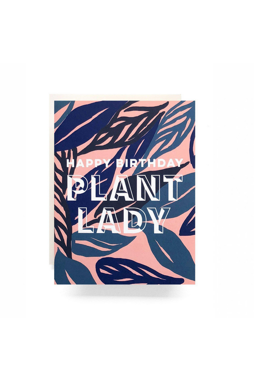 EcoVibe Style - Plant Lady Birthday Greeting Card,