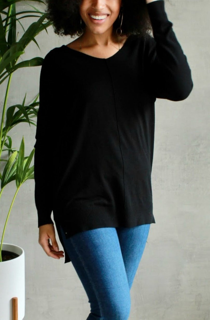 EcoVibe Sierra Ultra Soft Sweater in Black