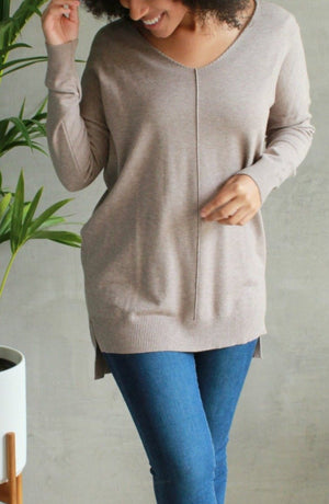 EcoVibe Sierra Ultra Soft Sweater in Mocha