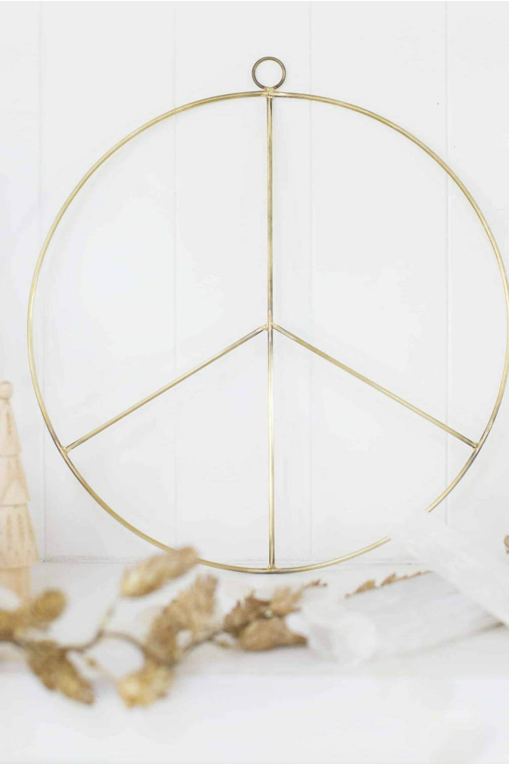 Accent Decor Brass Peace Wreath