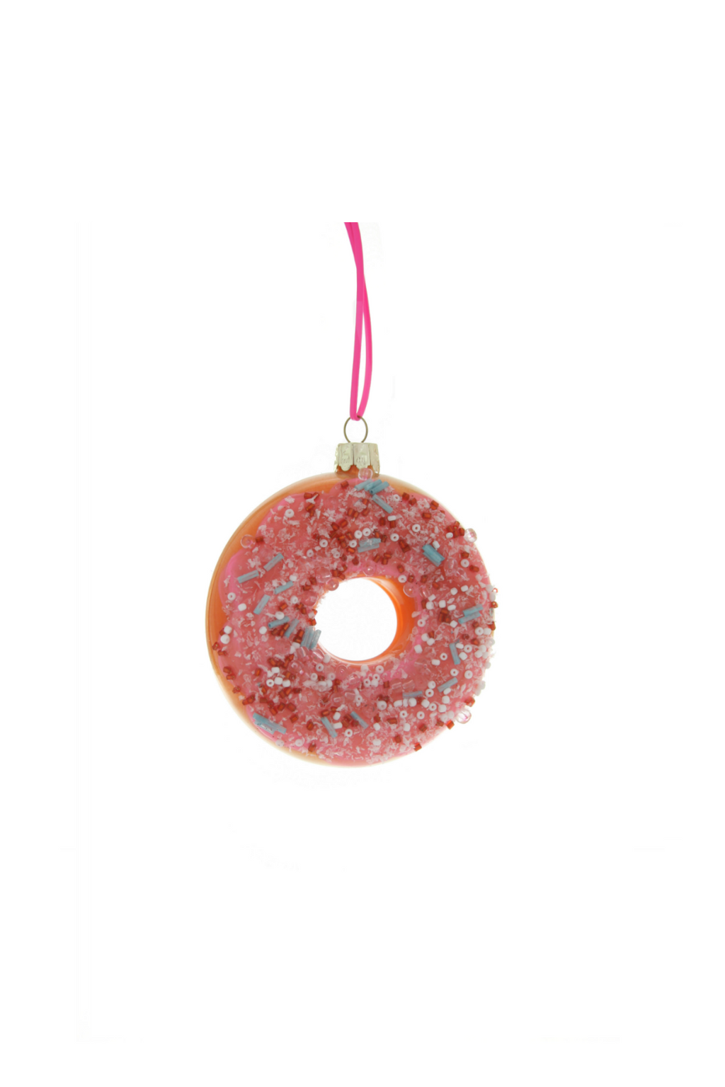 Large Frosted Donut with Sprinkles Ornament