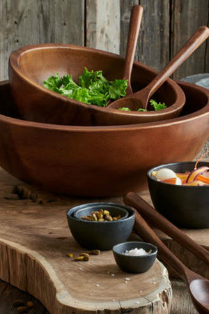 Brindisi Wood Salad Bowl