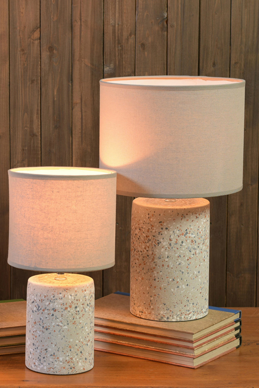HomArt Terra Table Lamp in Light Grey Terrazzo