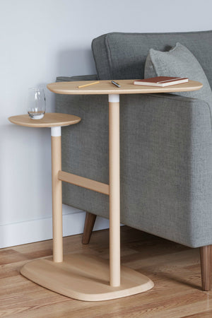 Umbra Swivo Side Table, Natural Wood