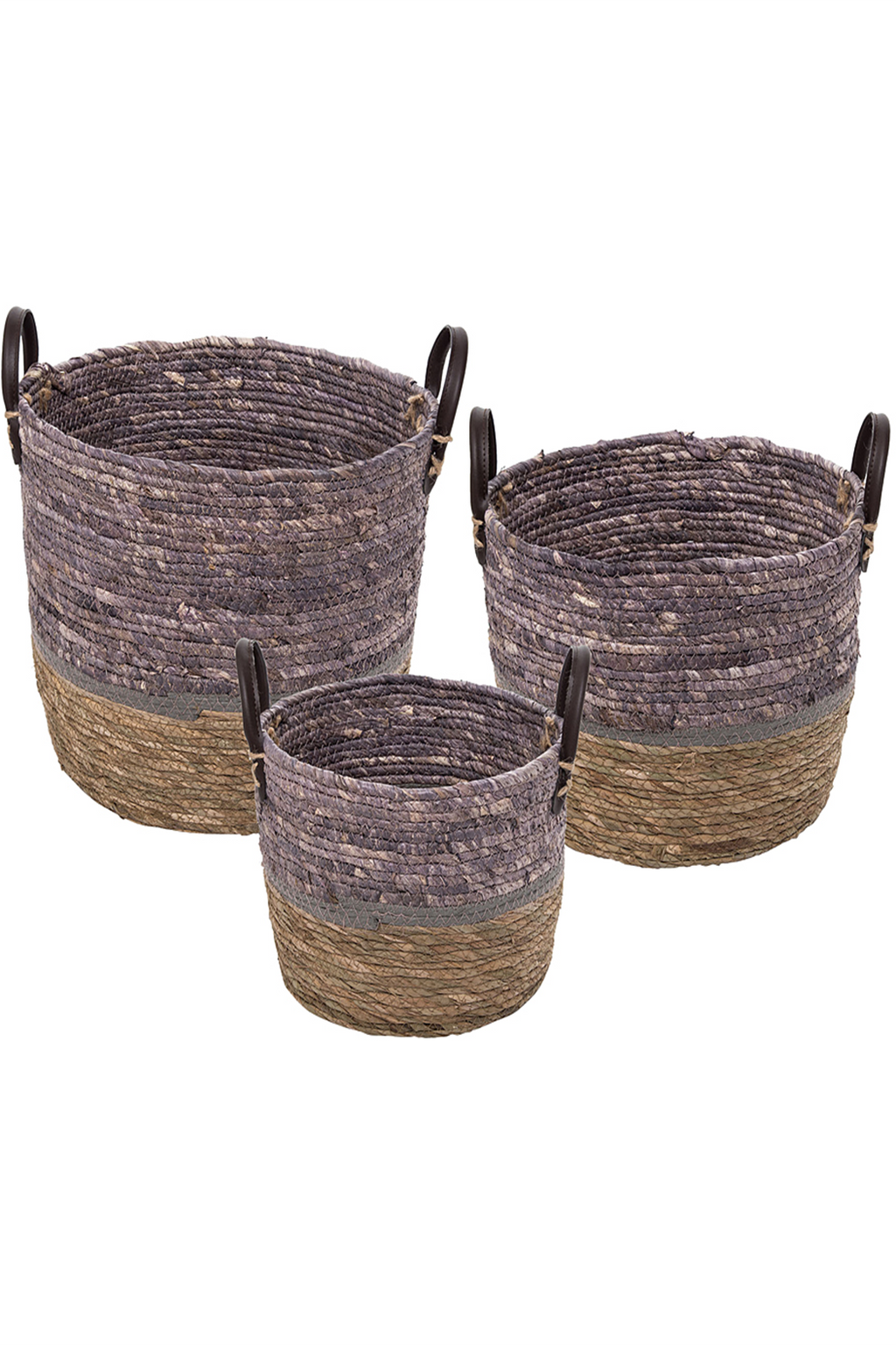 Foreside Cattail Handled Baskets