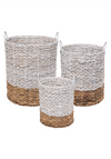 EcoVibe Style - Foreside Ariana Natural Baskets