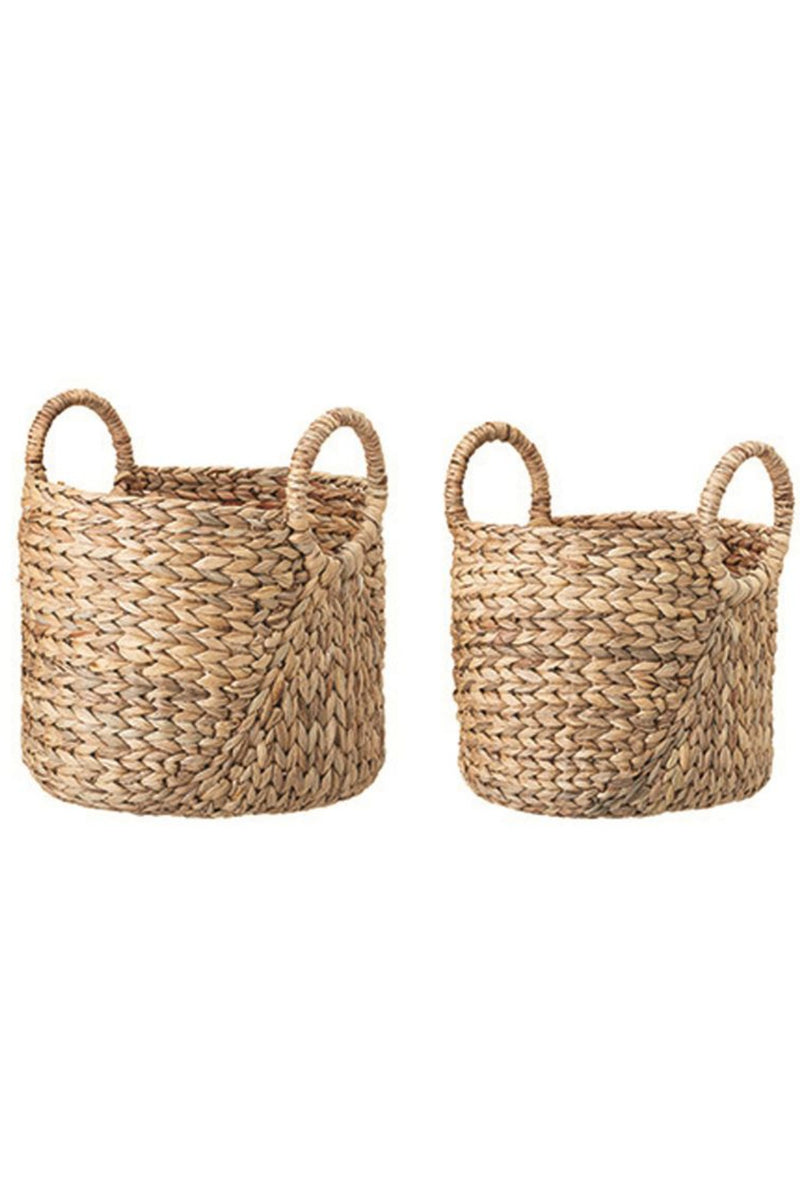 Bloomingville Round Handled Seagrass Baskets