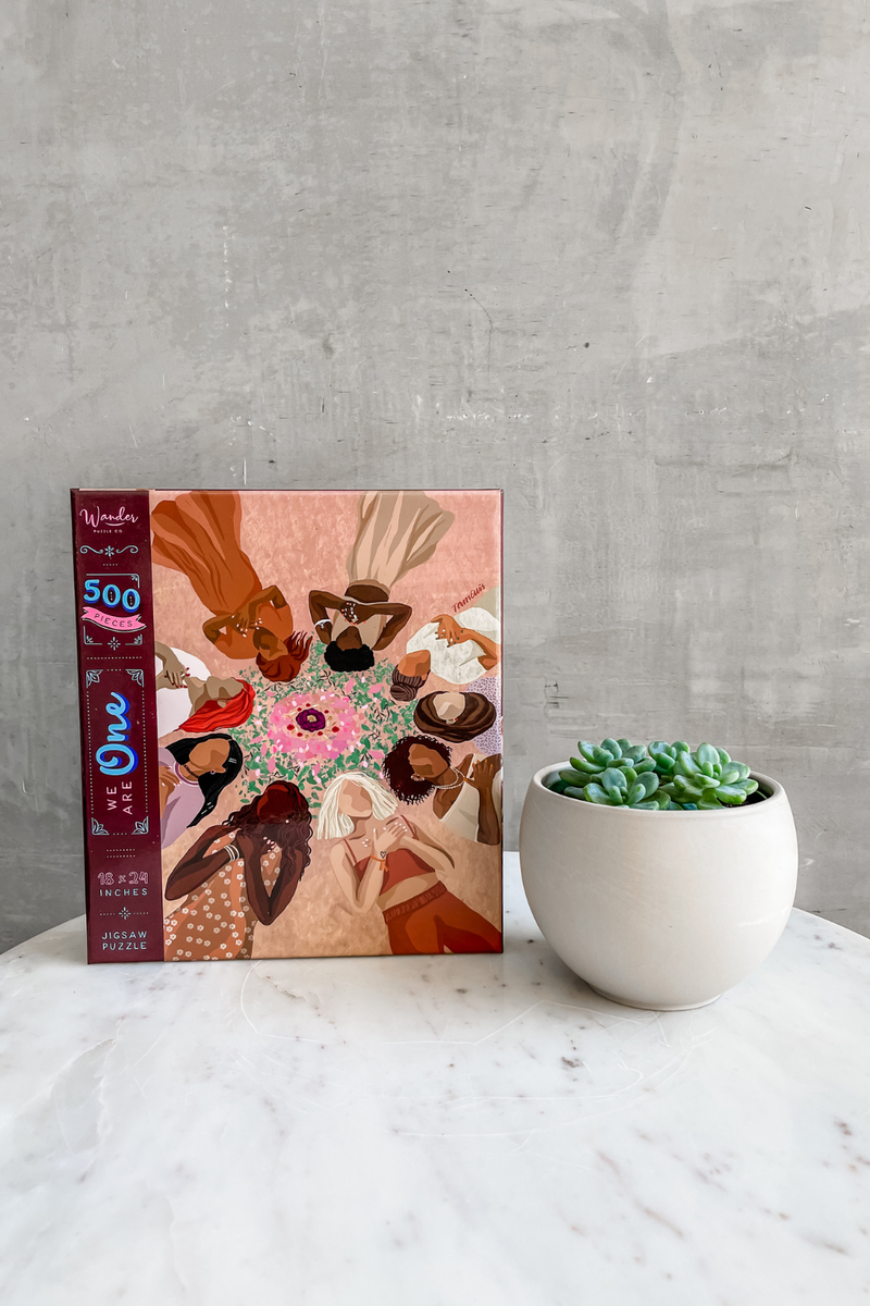 We Are One Puzzle + Plant Gift Set