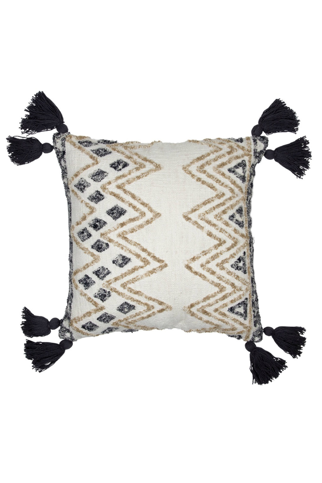 Foreside Hand-Woven Hendry Pillow