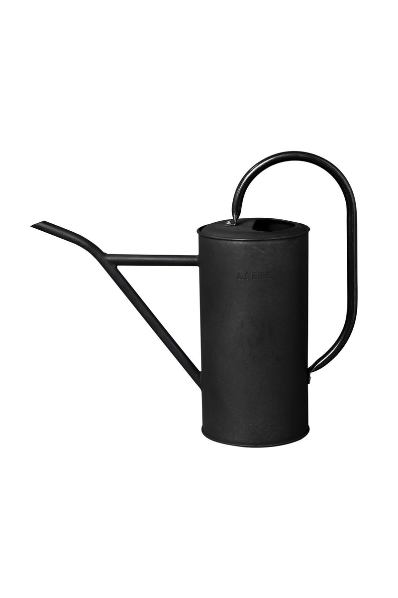 Vintage Litre Tin 2.5L Watering Can in Black