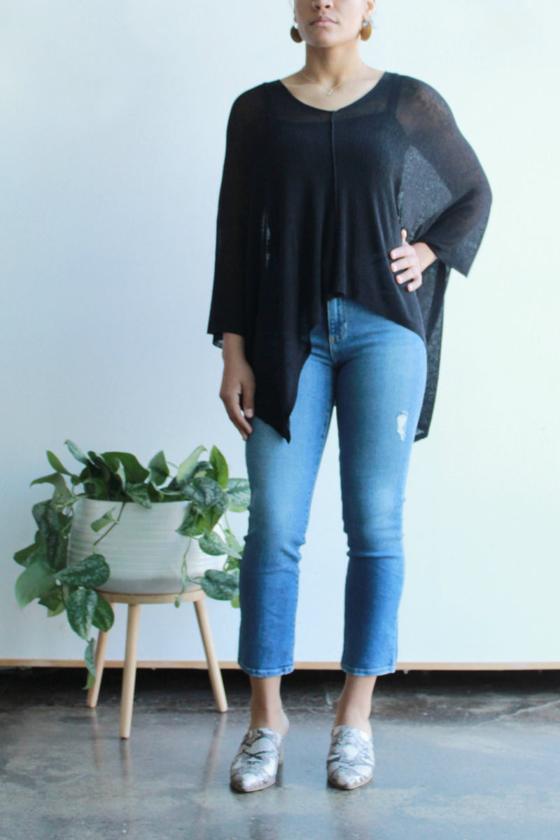 EcoVibe Lorena Top in Black