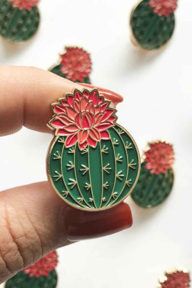 Paper Anchor Co. Julia Blooming Cactus Lapel Pin