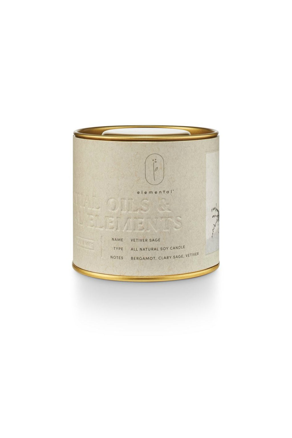 Illume Elemental Vetiver Sage Tin Candle