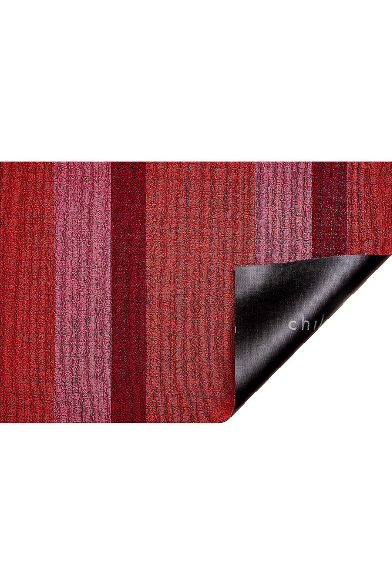 Chilewich Bold Stripe Shag Mat in Punch- Utility Mat