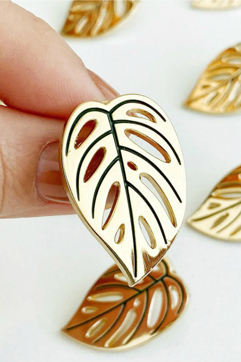Paper Anchor Co. Swiss Cheese Monstera Adansonii Lapel Pin