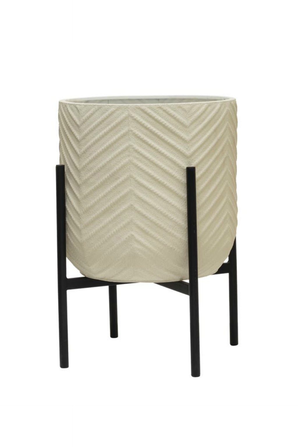 Bloomingville White Chevron Plant Stand