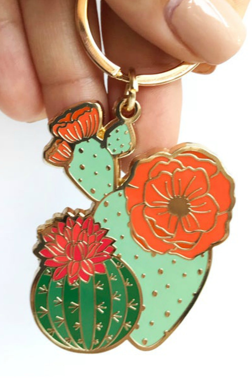 Paper Anchor Co. Blooming Cacti Keychain