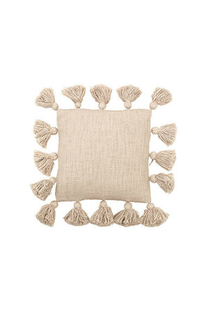 Bloomingville Mini Cotton Pillow with Tassels