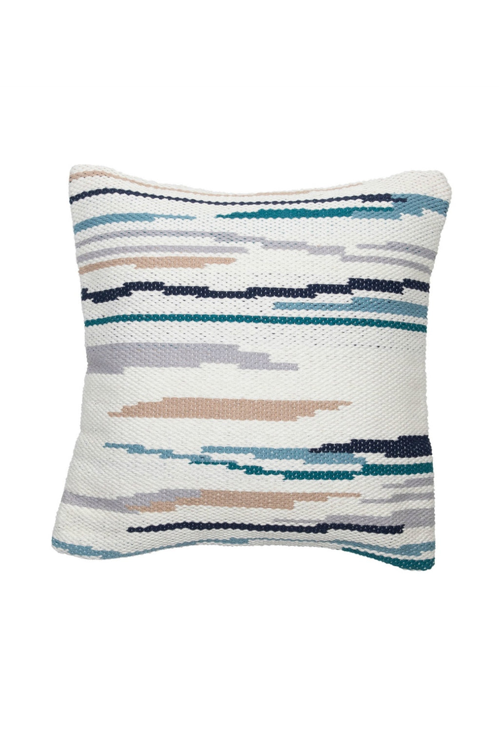 Foreside Hand Woven Hayes Pillow in Blue