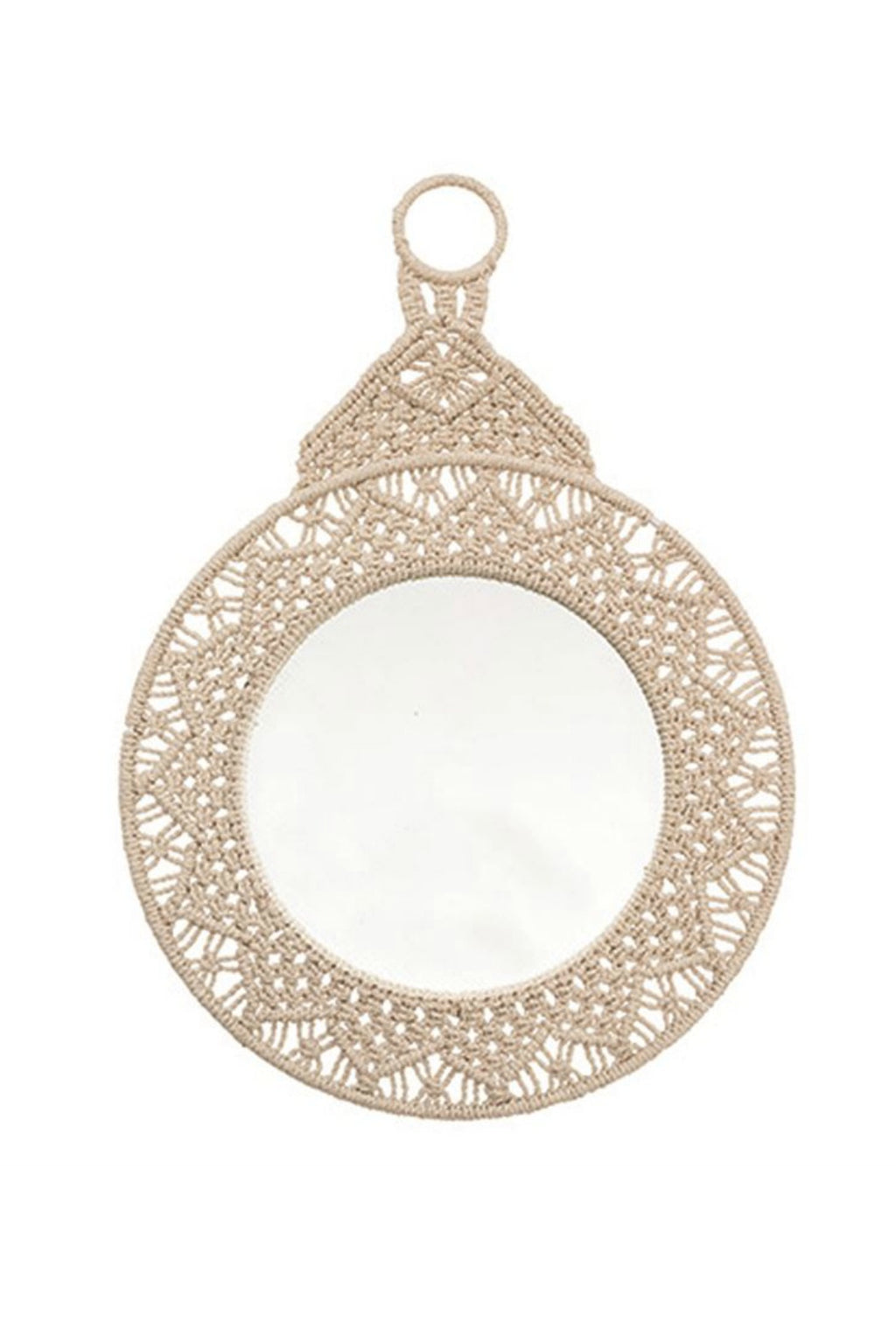 Bloomingville Macramé Framed Wall Mirror