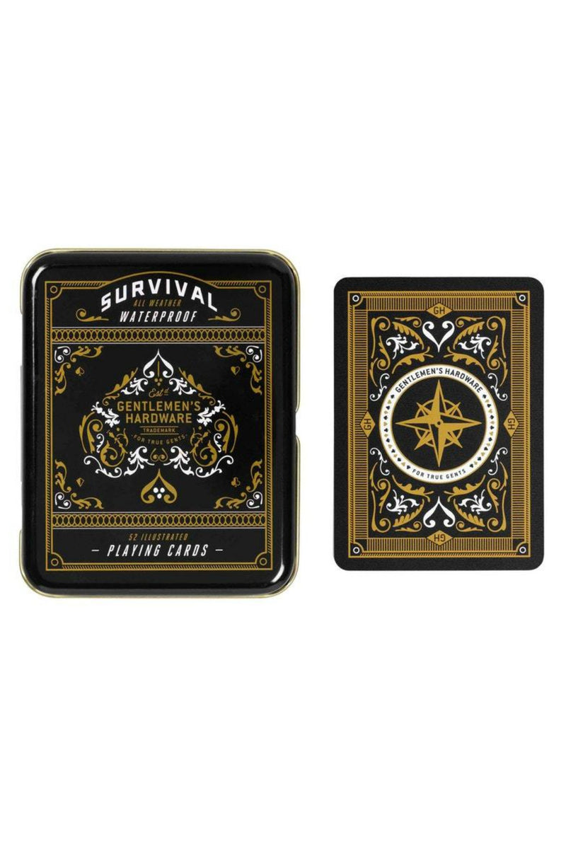 Gentleman's Hardware Survival Playing Cards in Tin