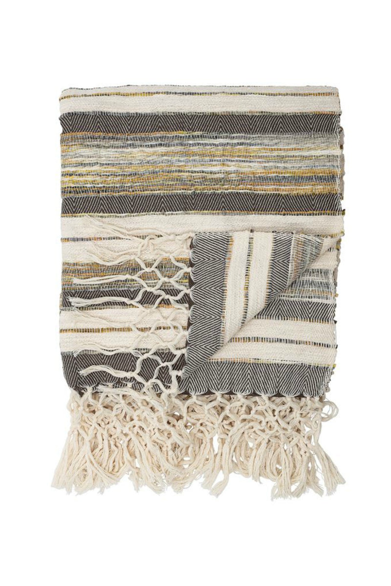 Bloomingville Leila Cotton Woven Throw