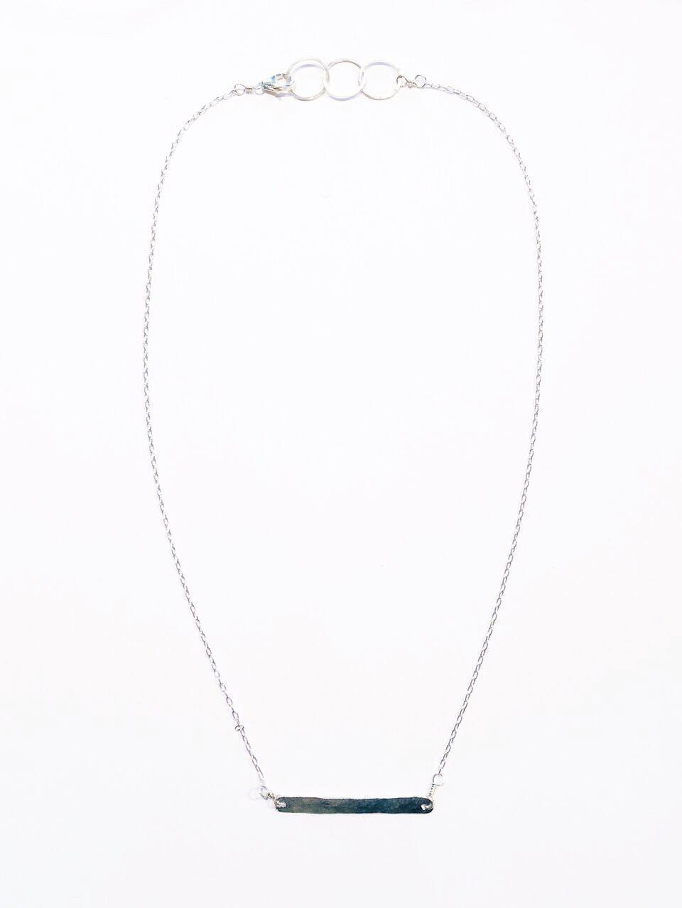 EcoVibe Style - Bar Necklace - Gold or Silver,  | Silver