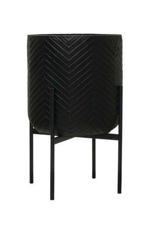 Bloomingville Black Chevron Plant Stand