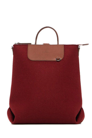 EcoVibe Style - Bedford Backpack,  | Rosewood Felt and Sienna Leather