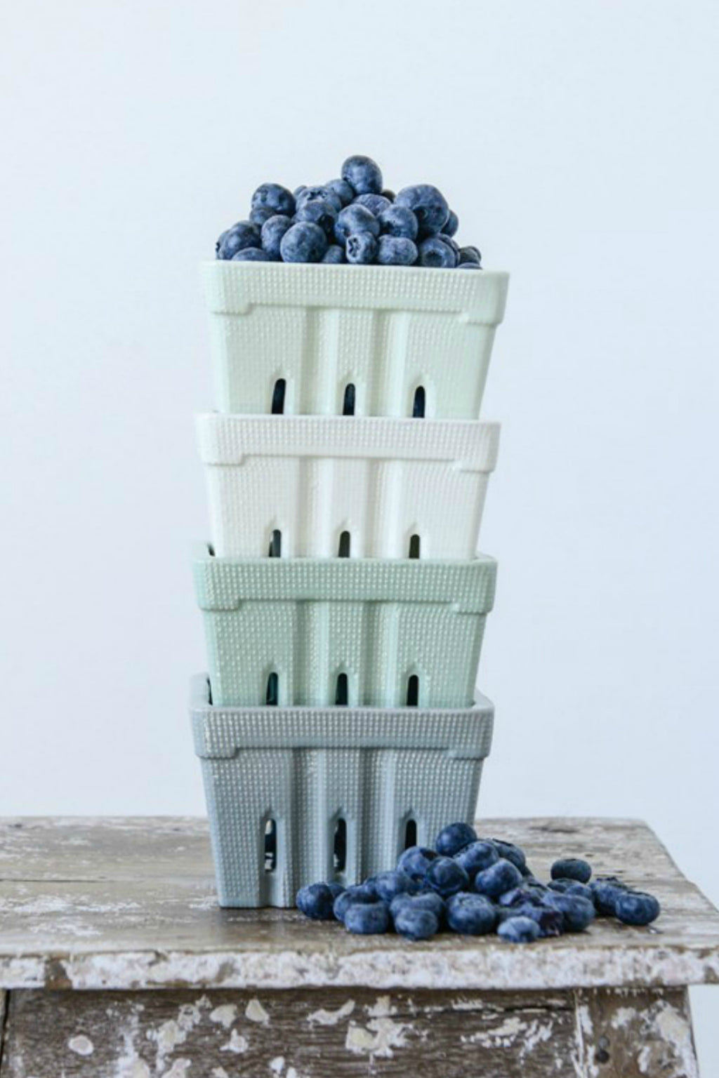 Creative Co-op Stoneware Berry Basket