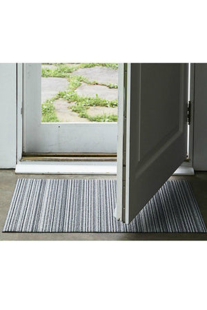 Chilewich Skinny Stripe Shag in Birch Utility Mat