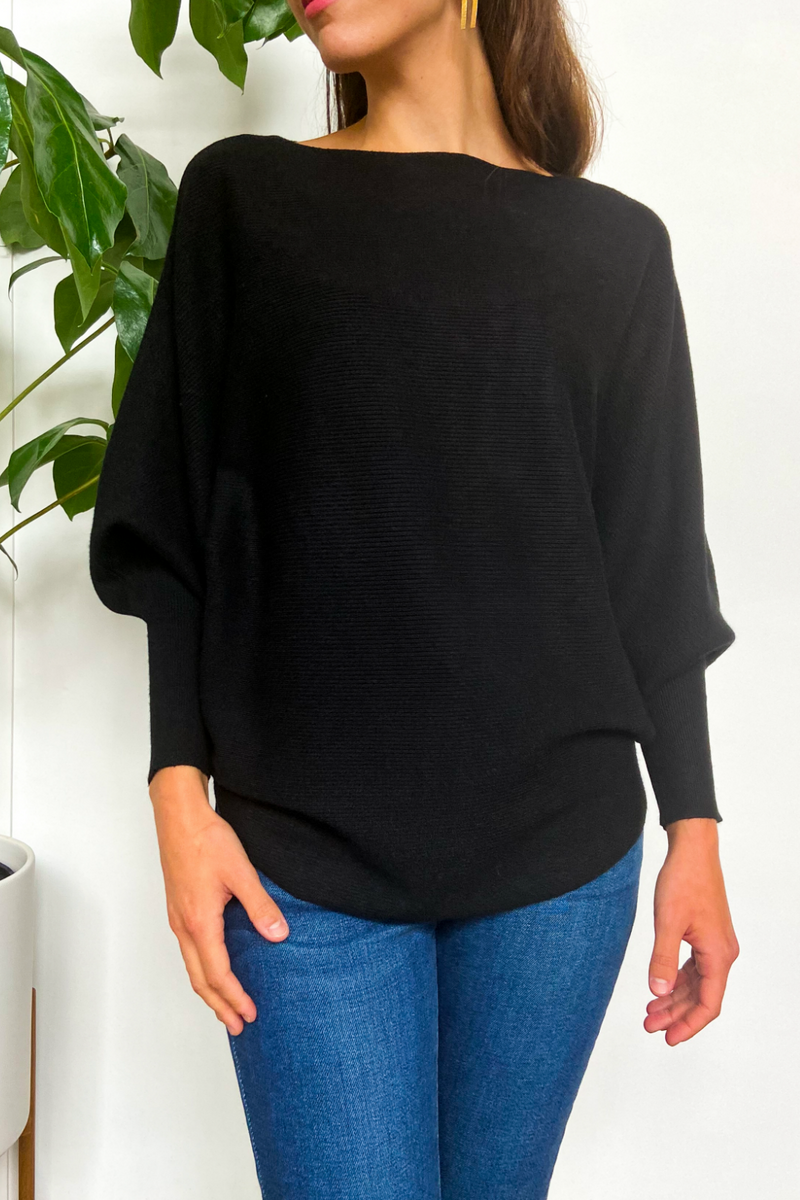 EcoVibe Brynn Sweater in Black