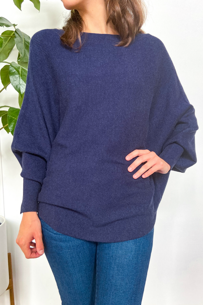 EcoVibe Brynn Sweater in Dark Jean Blue