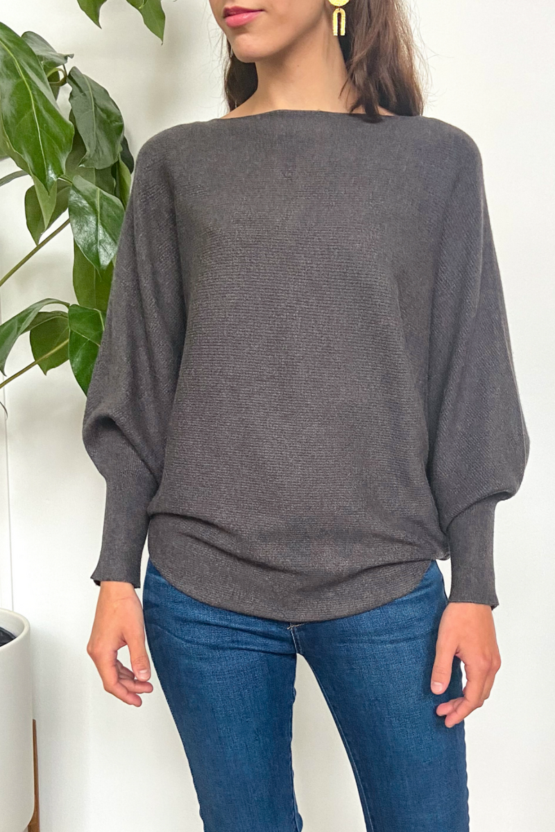 EcoVibe Brynn Sweater in Charcoal