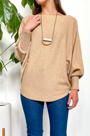 EcoVibe Brynn Sweater in Light Camel