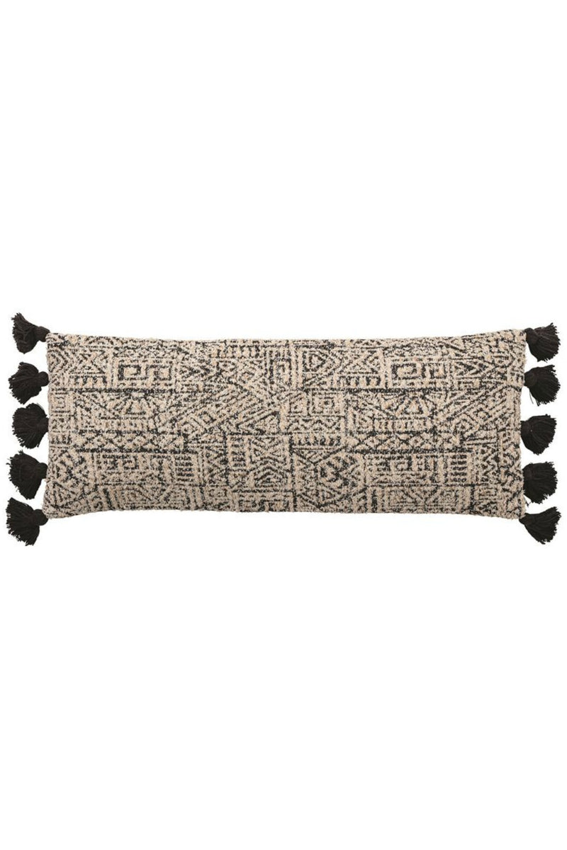 Bloomingville Plush Patterned Lumbar Pillow