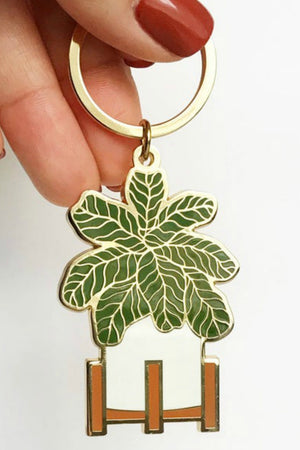 Paper Anchor Co. Fiddle Leaf Keychain