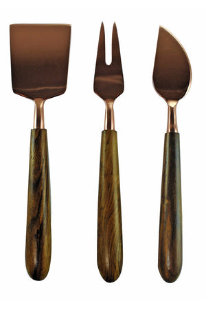 EcoVibe Style - Cheese Serving Set, Be Home | Copper