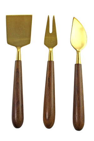 EcoVibe Style - Cheese Serving Set, Be Home | Gold