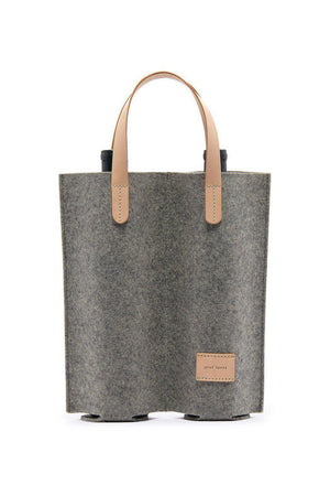 EcoVibe Style - Cozy Carrier Duo Felt Wine Bag,