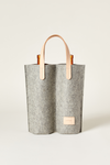 EcoVibe Style - Cozy Carrier Duo Felt Wine Bag,  | Granite Felt