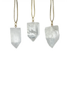 Accent Decor Stone Ornaments- Crystal